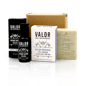 Shave With Valor Beard Tame + Wash [Small Gift Box]