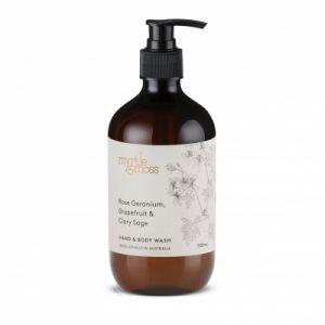 Myrtle & Moss Body Wash – Rose Geranium, Grapefruit + Clary Sage