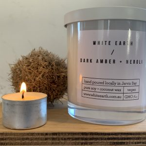 White Earth Candle – 40 hr Burn – Variety of Blends Available