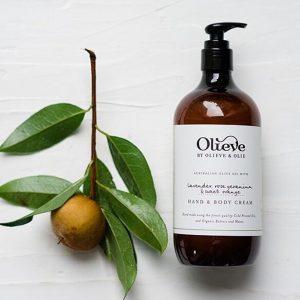 Olieve Hand and Body Cream – Lavender, Rose Geranium+ Sweet Orange