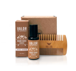 Shave With Valor Beard Tamer + Comb Set