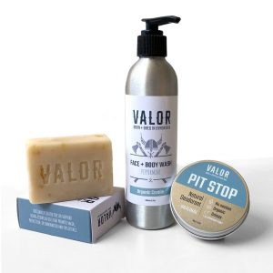 Shave With Valor Face + Body Trio [Medium Gift Box]