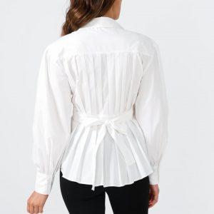 Mistress Wrap Shirt Dress – White