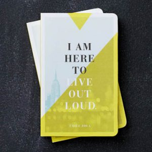Compendium Write Now Journal – I Am Here To Live Out Loud