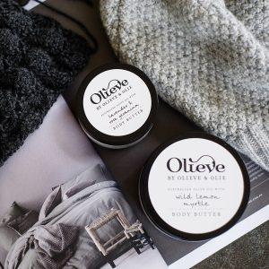 Olieve Body Butter – Lavender, Rose Geranium + Sweet Orange
