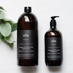Olie Hand & Body Wash – Bergamot, Clary Sage + Geranium