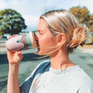 Pink Flamingo – Reusable Ceramic Travel Cup