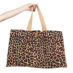 Eco Friendly Jute Market Bag – Leopard print