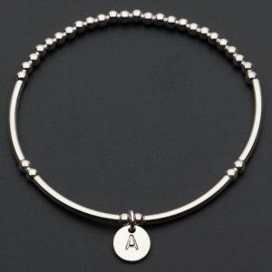 Love Letter A – Silver Bracelet
