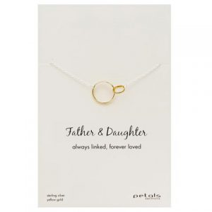 Father & Daughter Necklace – Always linked, forever loved