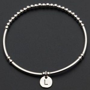 Love Letter L – Silver Bracelet