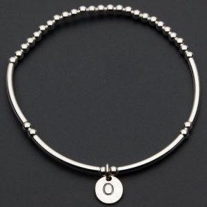 Love Letter O – Silver Bracelet