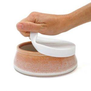 Desert Sand – Reusable Ceramic Travel Bowl with Lid