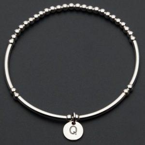 Love Letter Q – Silver Bracelet