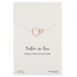 Sister-in-Law Necklace – Always linked, forever loved