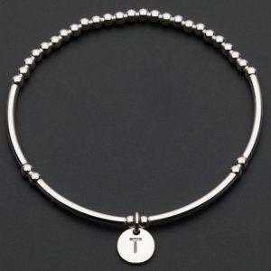 Love Letters T – Silver Bracelet