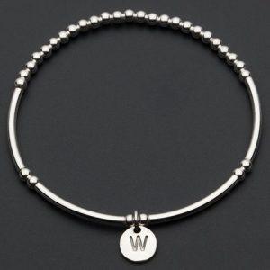 Love Letters W – Silver Bracelet