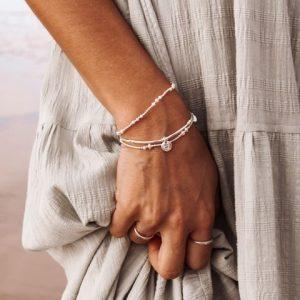 Love Letter D – Silver Bracelet
