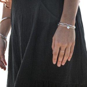 Love Letter J – Silver Bracelet