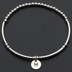 Love Letter H – Silver Bracelet
