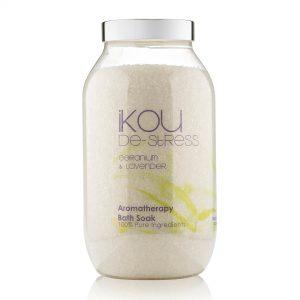 iKOU _ De-Stress Aromatherapy Bath Soak – Geranium & Lavender