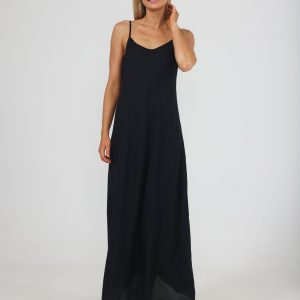 Claro Maxi Dress – Black