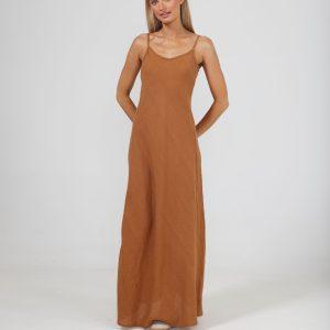 Claro Maxi Dress – Tan