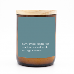 Heartfelt Quote Candle -Good, Kind, Happy