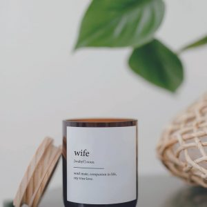 Wife Candle – soul mate, companion in life, my true love